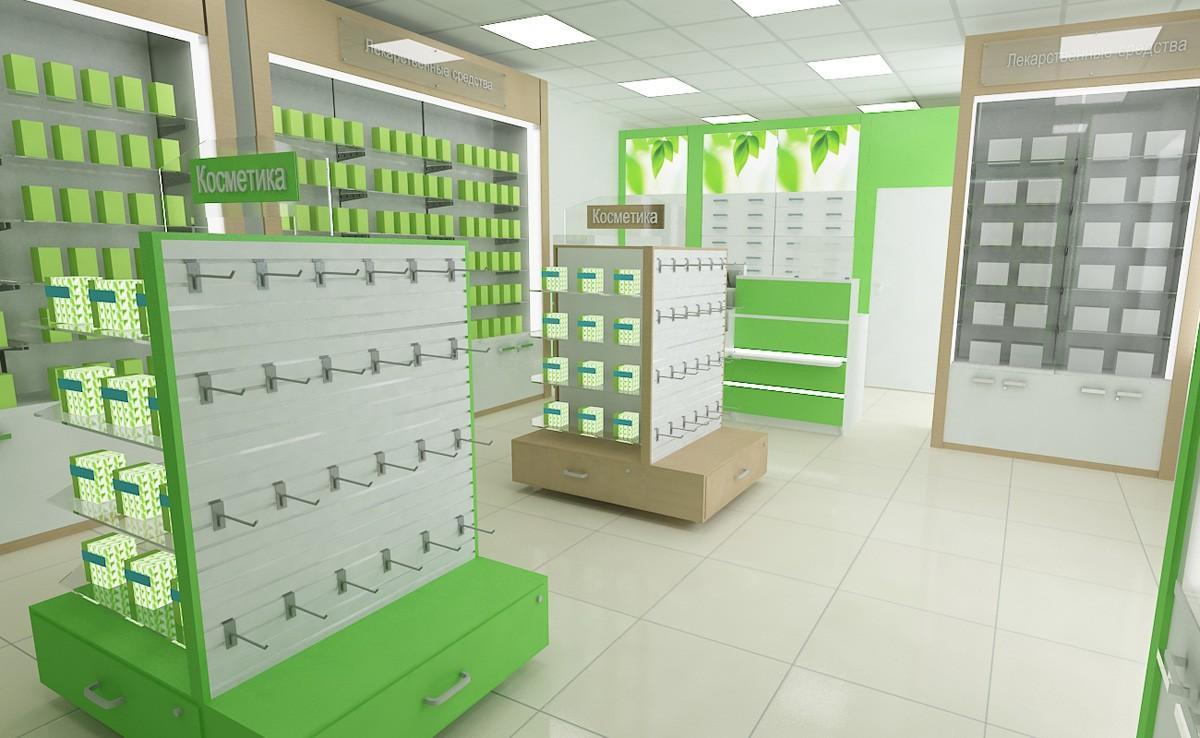 Мебель для аптеки №6 | 738x1200